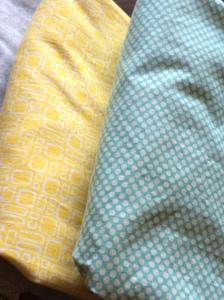 yellow aqua sheets