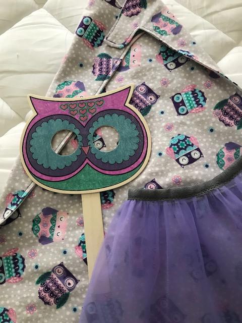 mal purple owl upclose